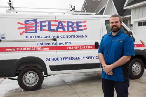 flare heating